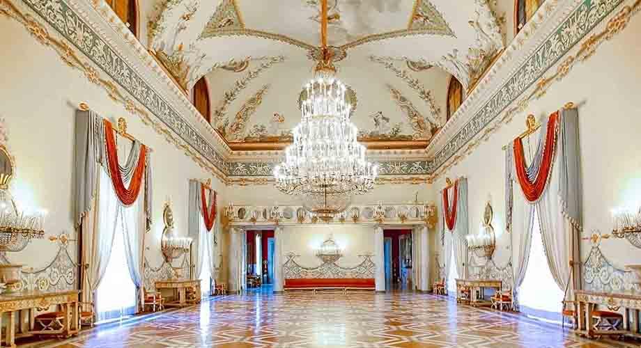 Salón del Museo Capodimonte en Nápoles