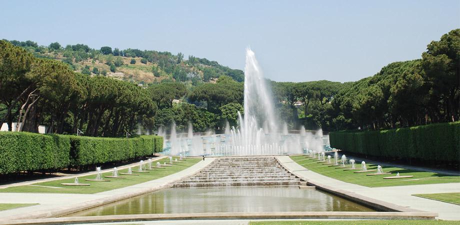 La Fontana dell'Esedra nella Mostra d'Oltremare a Napoli