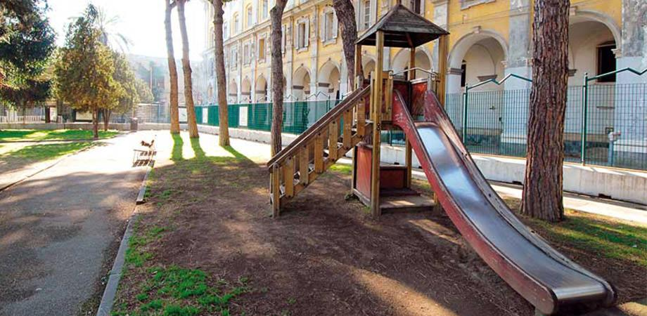 Play in the Park of the Quartieri Spagnoli in Naples
