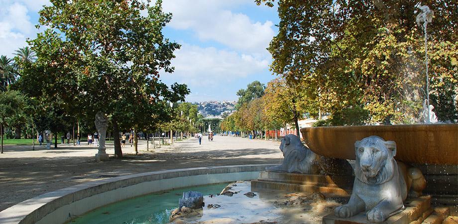 Viale della Villa Comunale a Napoli