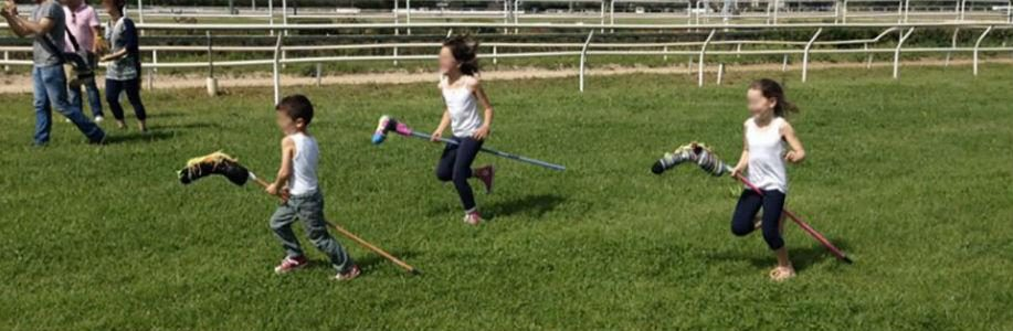 One of the meadows where children can play at the agnano racecourse in NApoli