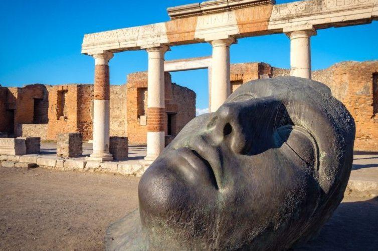 statua di bronzo nellantica pompei