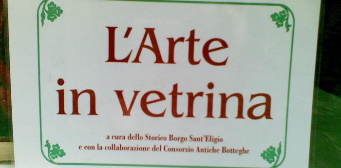 cartello dell'Arte in vetrina 2012 che si svolgerà al Borgo Sant'Eligio di Napoli