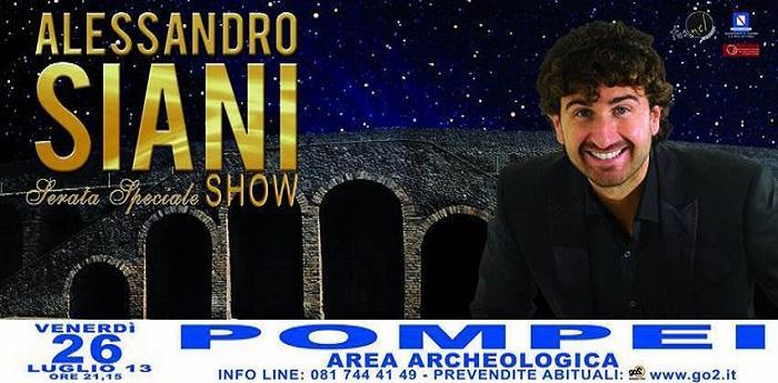 Alessandro Siani spettacolo Pompei