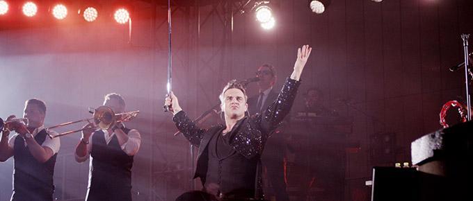 Robbie Williams in concerto