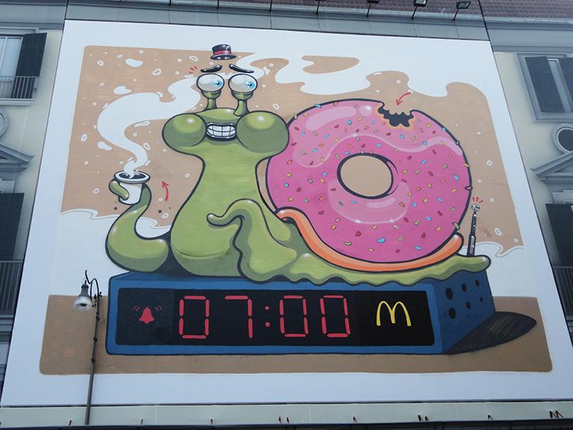 Il Murales di McDonald's a Napoli