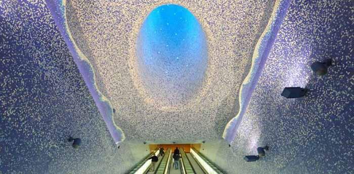 Stazione metro Toledo di Napoli premiata a Londra