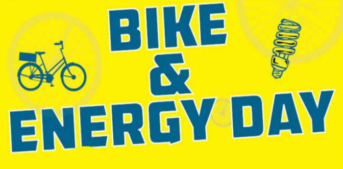 locandina di bike & energy day per l'evento di napoli presso la metropolitana di toledo