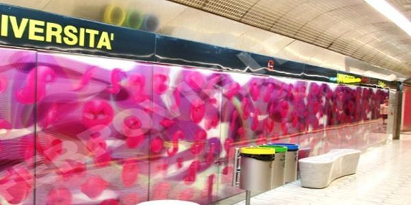 أسبوع التنقل المستدام الأوروبي في نابولي في محطات الفن