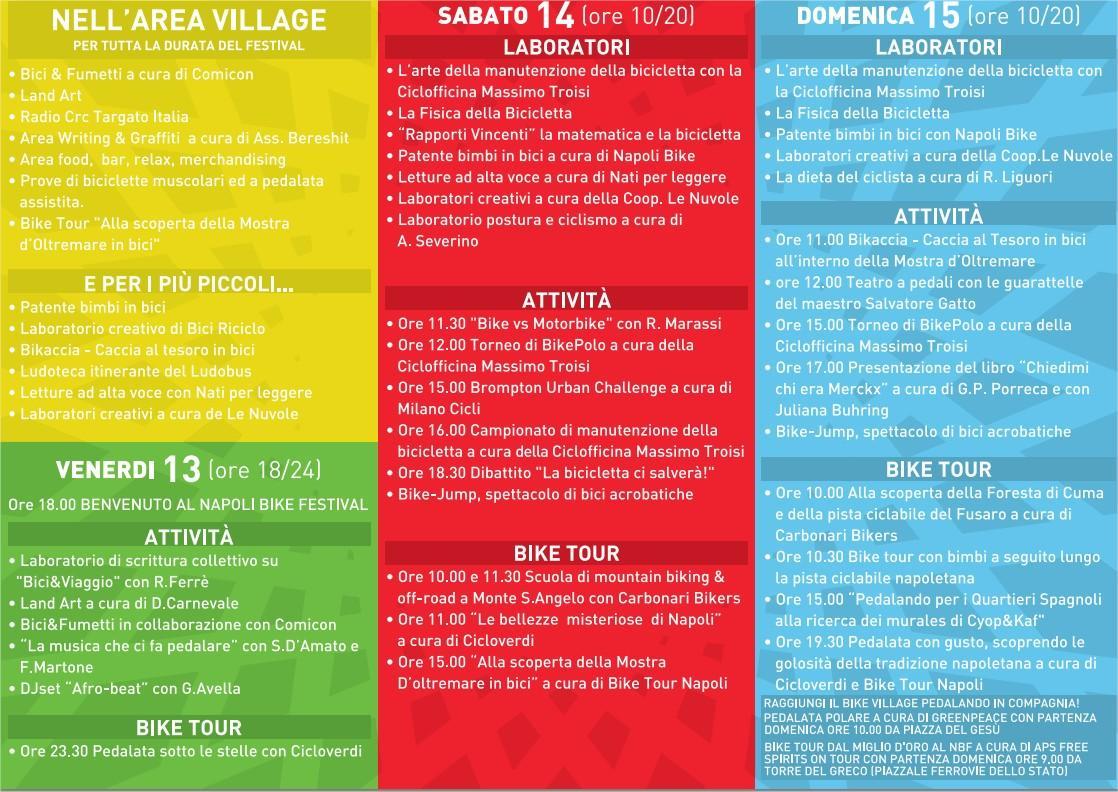 Programma ufficiale Bike Festival 2013