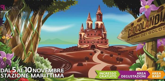 Locandina di Chocolandia, la fiera del Cioccolato a Napoli
