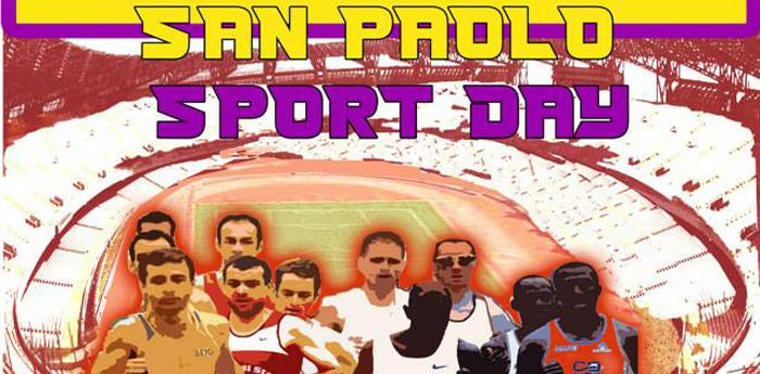 Locandina San Paolo Sport Day allo stadio di Napoli
