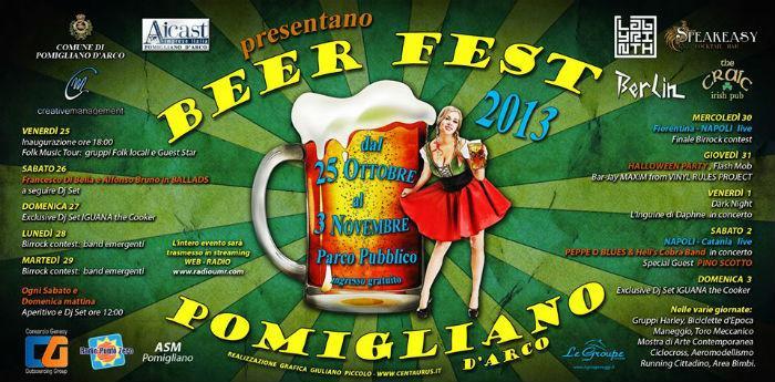 Locandina della Beer Fest a Pomigliano d'Arco