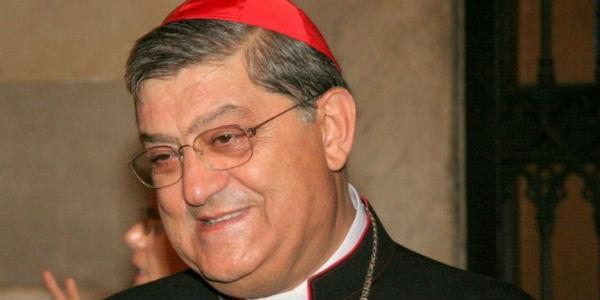 Cardinale Crescenzio Sepe di Napoli che benedirà Made in Sud