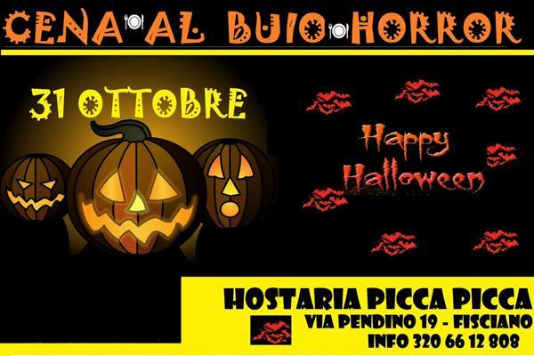 Locandina di Happy Halloween all'Hostaria Picca Picca di Fisciano