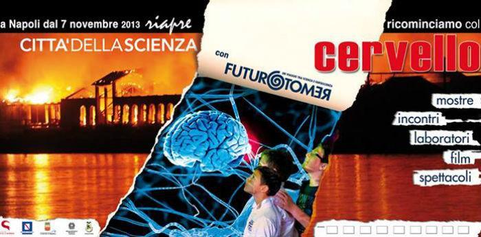 Locandina della mostra sul cervello alla Città della Scienza per Futuro Remoto 2013