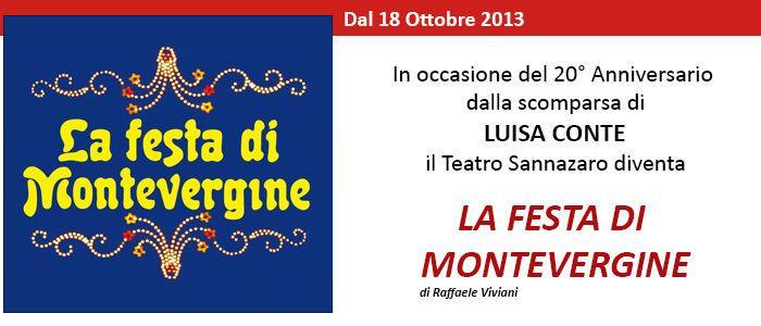 Locandina dello spettacolo La Festa di Montevergine al Teatro Sannazaro