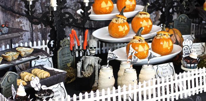 Tavolo per la festa di Halloween