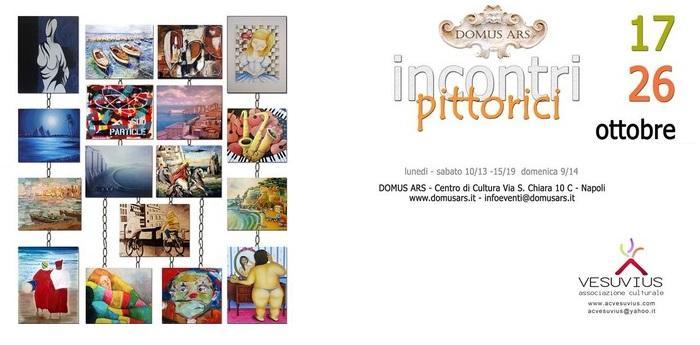 Manifesto personalizzato della mostra collettiva incontri pittorici