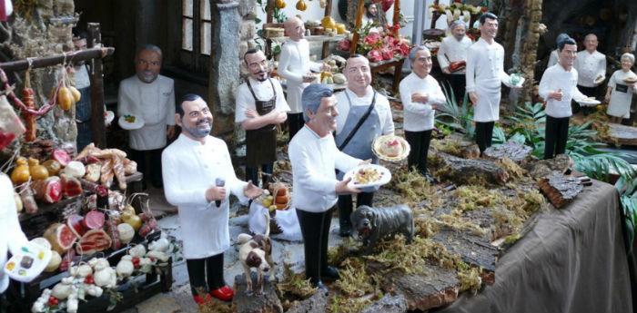 Presepe degli Chef di Marco Ferrigno, ideato da Maurizio Cortese