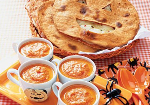 Zuppa di zucca con Crespelle croccanti