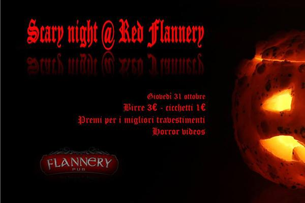 Locandina di Halloween Scary Night al Red Flannery di Pozzuoli