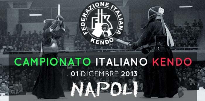 Locandina del Campionato Italiano di Kendo che si svolgerà al Polifunzionale di Soccavo a Napoli
