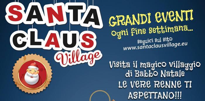 Locandina del Santa Claus Village a Varcaturo