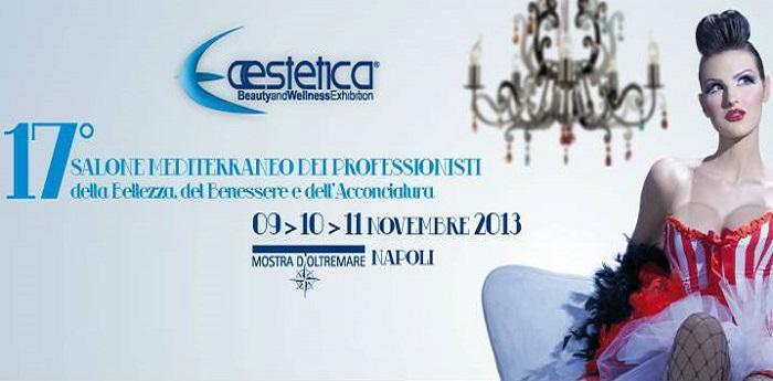 Locandina di Aestetica 2013 alla Mostra d'Oltremare di Napoli