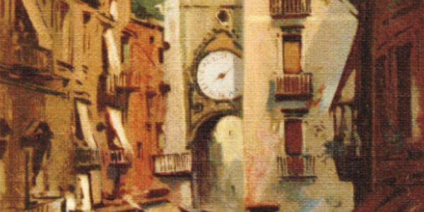 Opera d'arte per la manifestazione L'Arte in Vetrina a piazza Mercato e borgo Sant'Eligio
