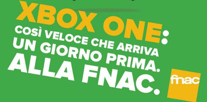 Locandina Xbox One arriva da Fnac di Napoli un giorno prima