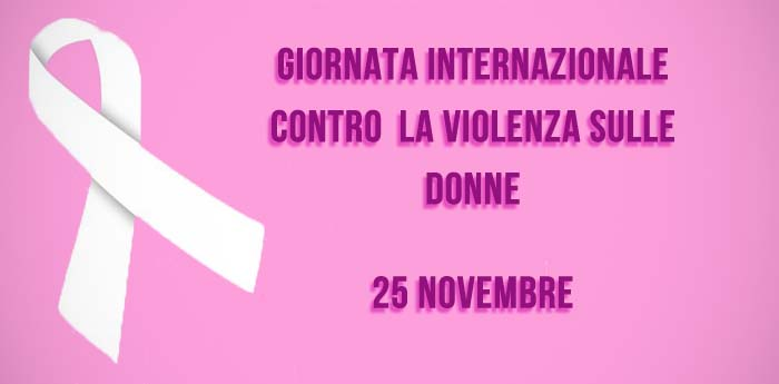 locandina della giornata internazionale contro la violenza sulle donne