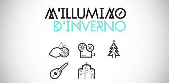 Locandina della rassegna di eventi per Natale M'illumino d'inverno a Sorrento