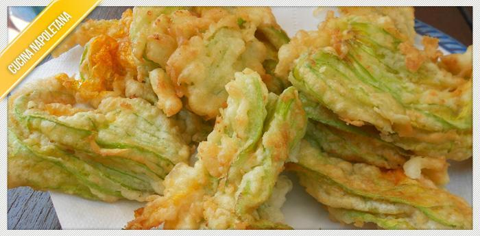 Foto dei un piatto di Fiori di zucchine detti Sciurilli