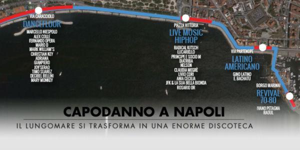 Locandina del Capodanno 2014 al Lungomare di Napoli