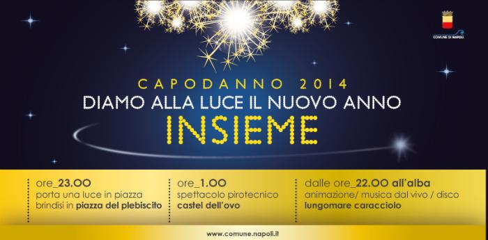 Locandina del Capodanno a Napoli 2014 organizzato dal Comune di Napoli