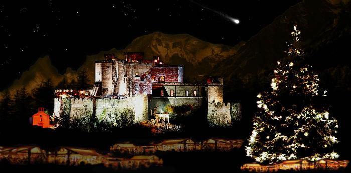 Fotografia del castello di Limatola e i suoi mercatini di Natale