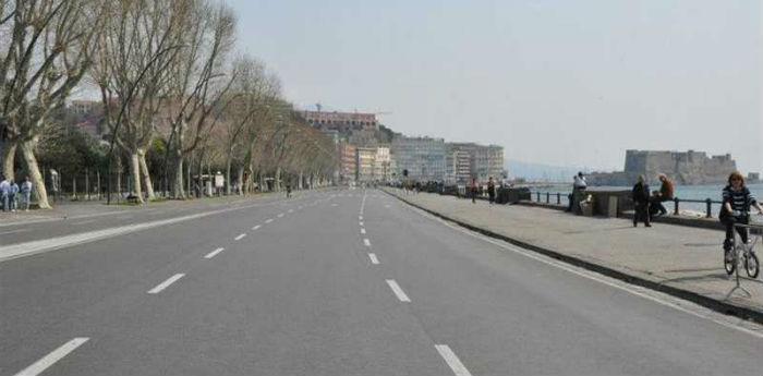 Napoli Lungomare Caracciolo, dispositivo di traffico per Capodanno 2014