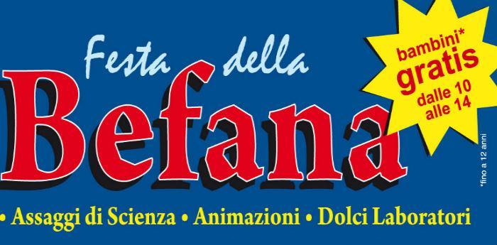 locandina modificata della Festa della Befana a città della Scienza a Napoli