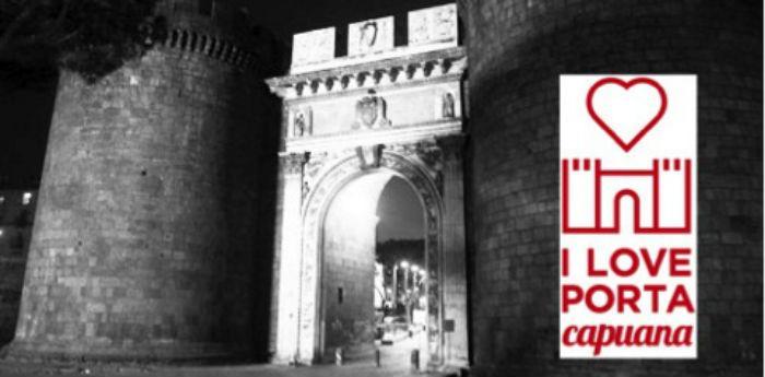 Locandina del progetto I Love Porta Capuana, visite guidate a Napoli