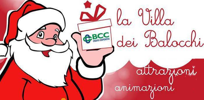 locandina modificata dell'evento di Natale La Villa dei Balocchi a Napoli