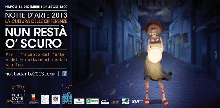 Locandina Notte d'Arte 2013 a Napoli