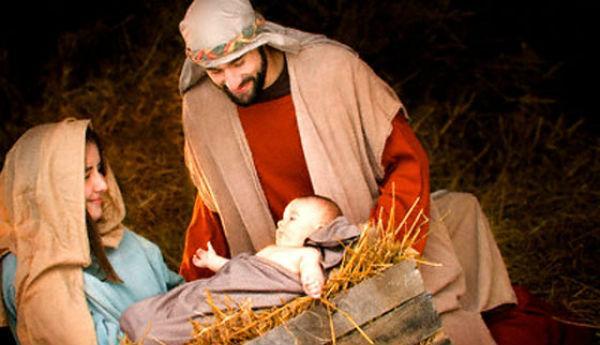 Una foto di un Presepe Vivente organizzato durante le feste natalizie