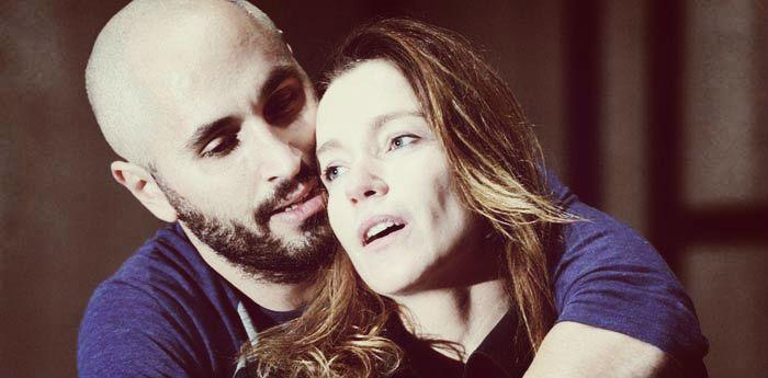Stefania Rocca e Daniele Russo nello spettacolo Ricorda con rabbia al Teatro Bellini