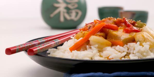 piatto cinese di riso