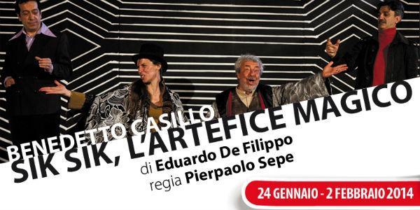 Benedetto Casillo nello spettaoclo Sik Sik  l'artefice magico al Teatro Nuovo Napoli