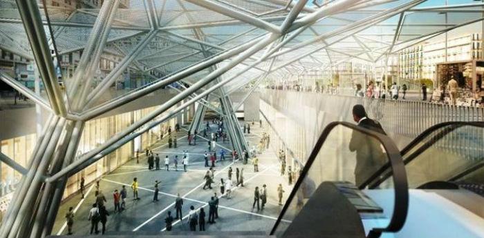 Immagine dalla nuova stazione Garibaldi della metropolitana linea 1 di Napoli
