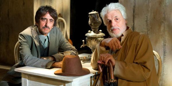 Sergio Rubini e Michele Placido nello spettacolo Zio Vanja al Teatro Bellini