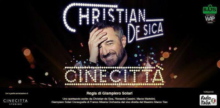 Locandina dello spettacolo Cinecittà al teatro Palapartenope di Napoli