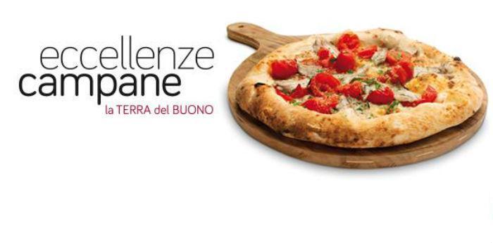 Locandina del polo gastronomico Eccellenze Campane a via Brin a Napoli